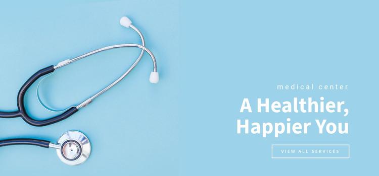 A healthier happier you HTML Template