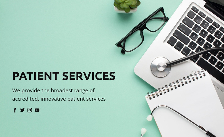 About healthcare and medicine Website Mockup