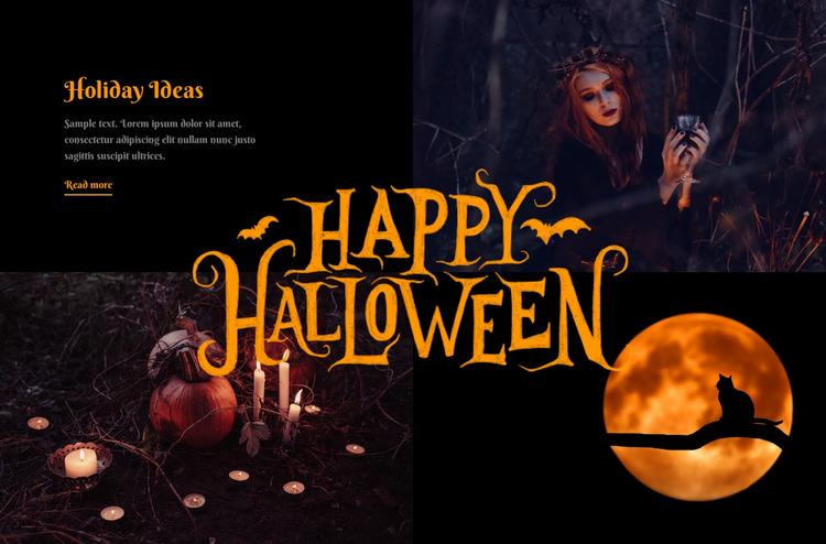 Happy helloween holidays  WordPress Website Builder