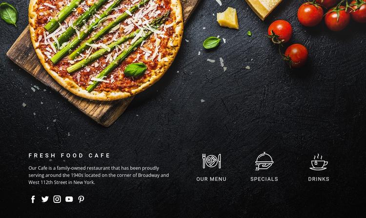 Fantastic freshly made pizza Joomla Template
