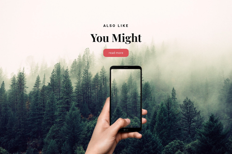 Travel app in your phone HTML Template