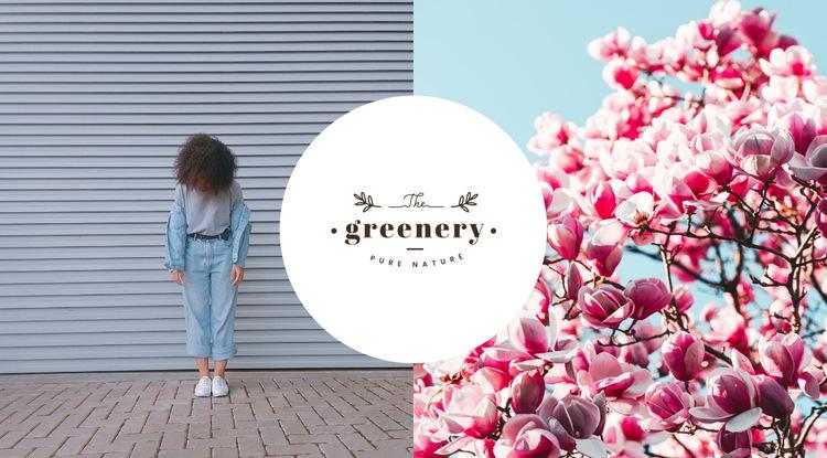 Wiosna w kolekcji mody Szablon witryny sieci Web