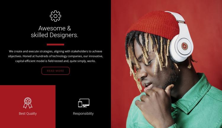 Skilled designers  Website Mockup