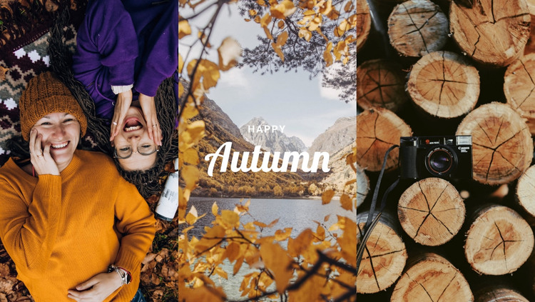 Happy autumn  WordPress Theme
