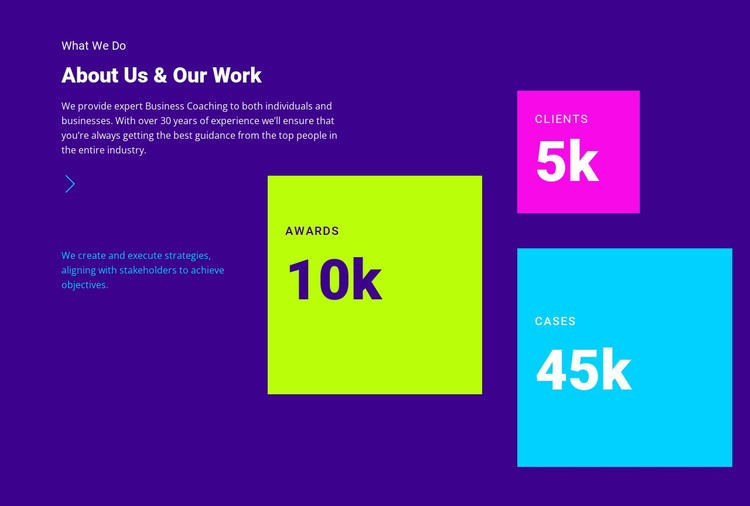 About Us and Our Work HTML Template