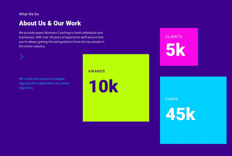About Us and Our Work Website Template