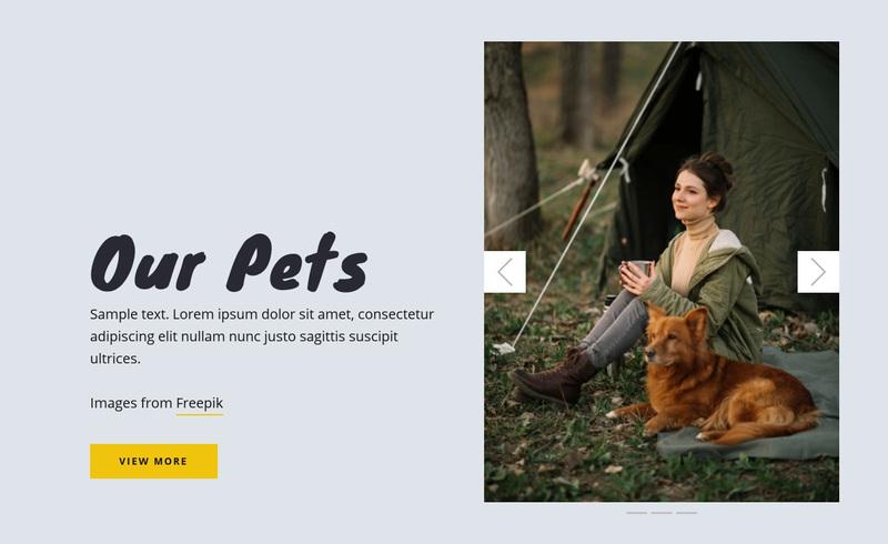 Our Pets Web Page Design