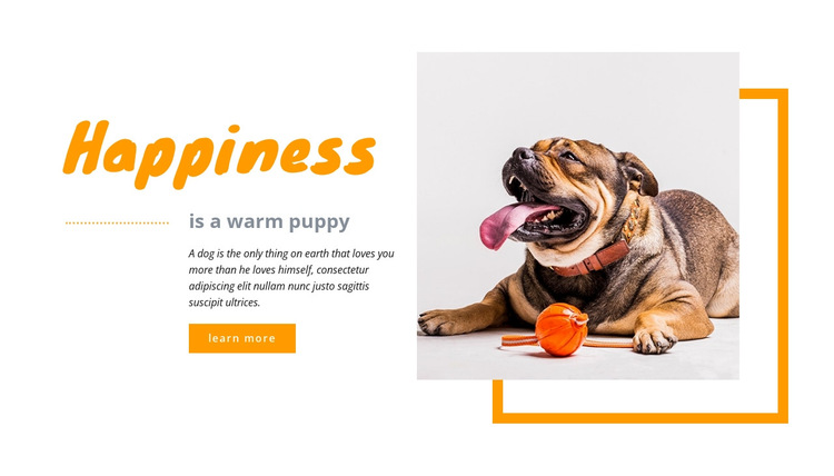Happy puppy HTML5 Template