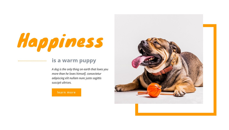 Happy puppy One Page Template