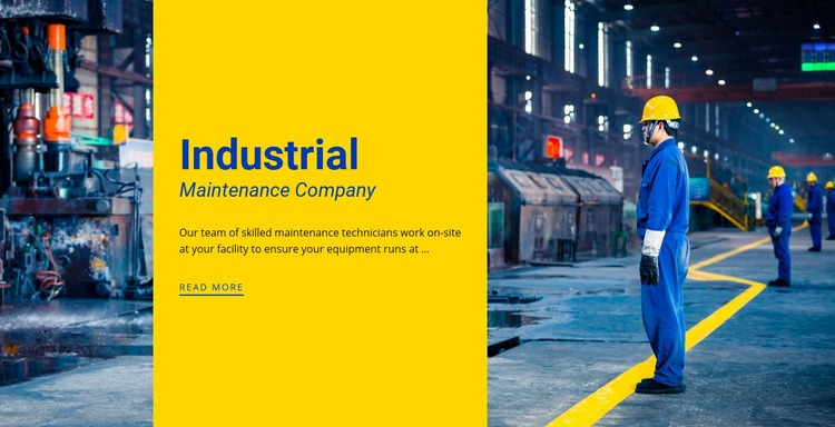 Steel industrial company Html Code Example