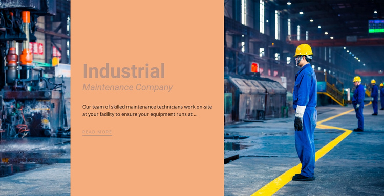 Steel industrial company One Page Template