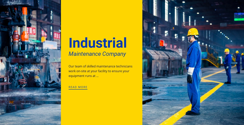 Steel industrial company Web Page Design