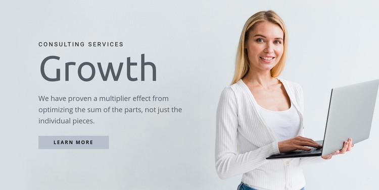 We build strong leadership teams Homepage Design