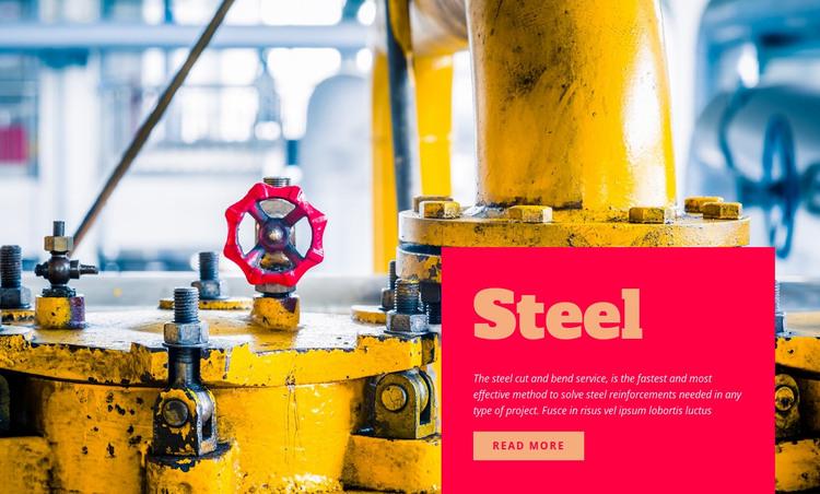 Industrial steel WordPress Theme
