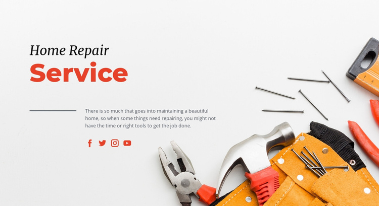 Repair services for homeowners Website Template