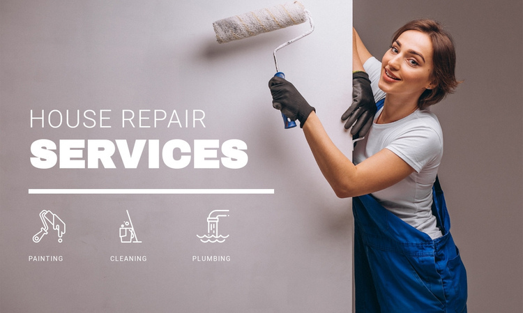 House repair services Website Builder Software