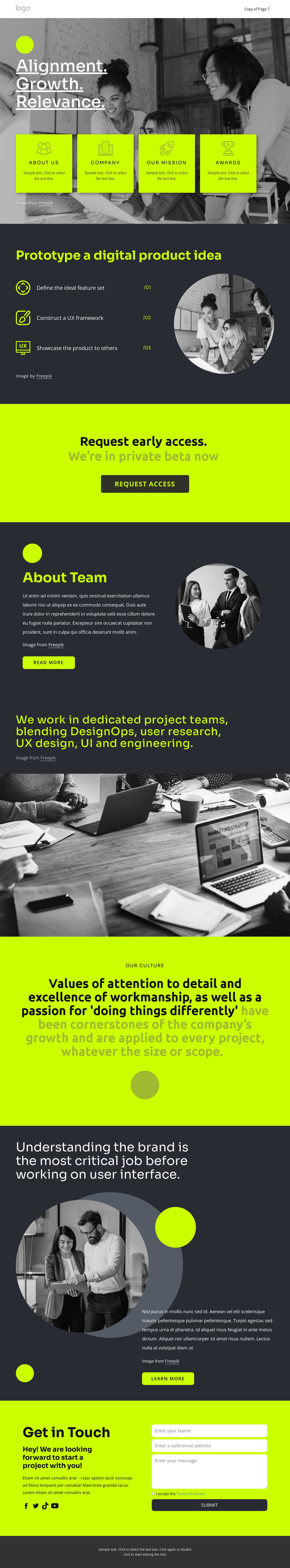 Build great digital products HTML Template