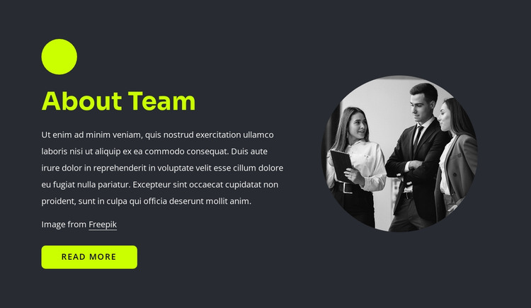 Web professionals HTML Template