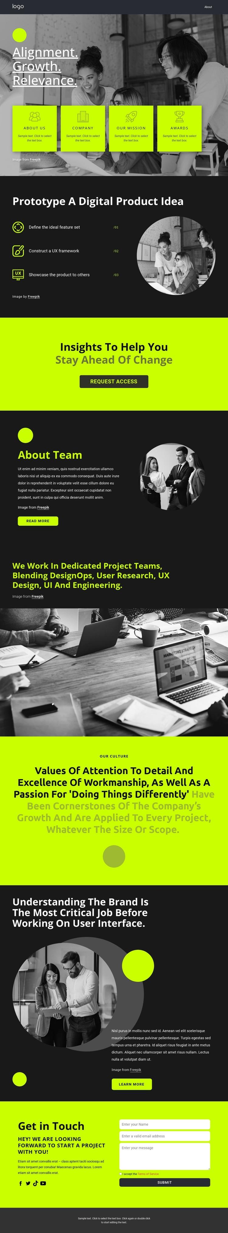 Build great digital products Joomla Template