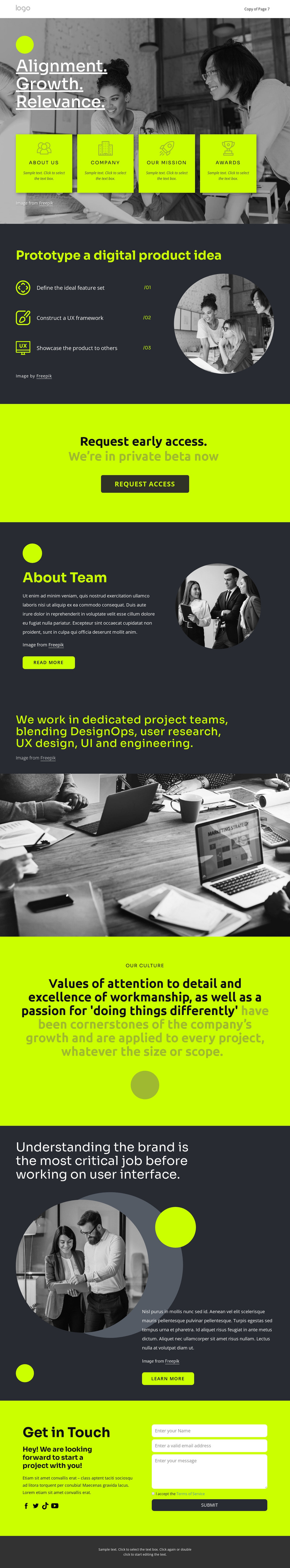 Build great digital products Template