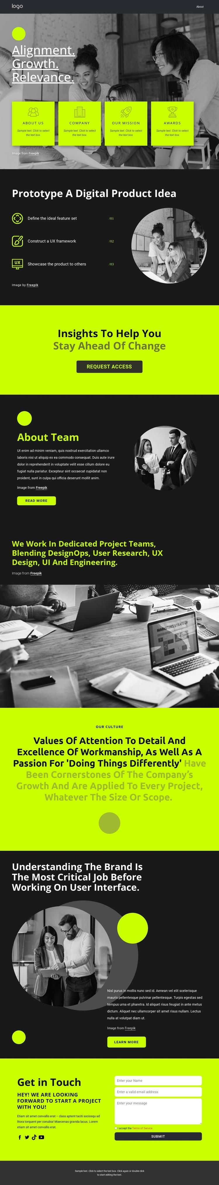Build great digital products Website Builder Software