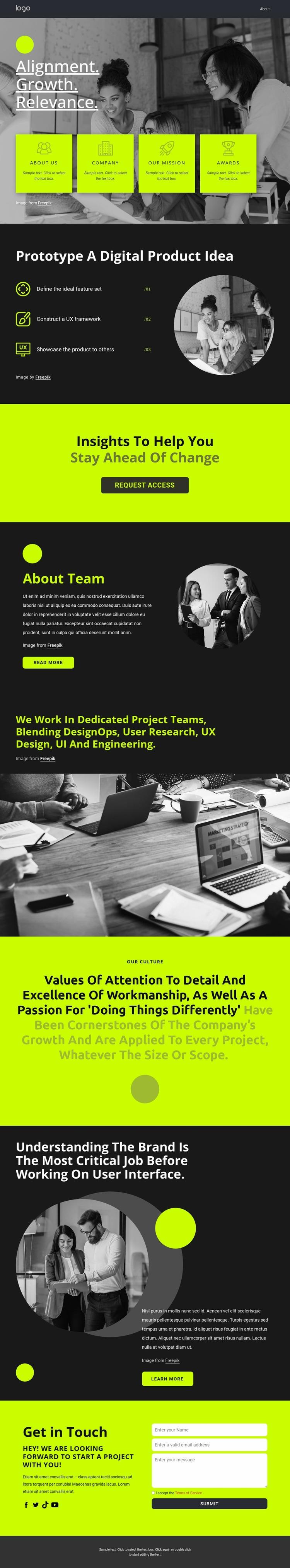 Build great digital products Website Mockup