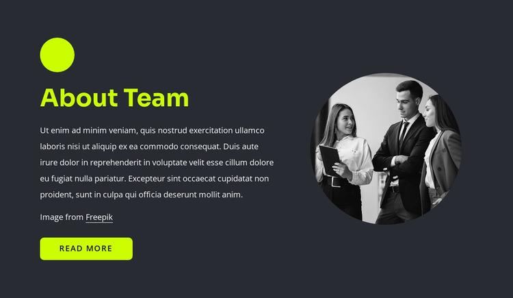 Web professionals Website Mockup