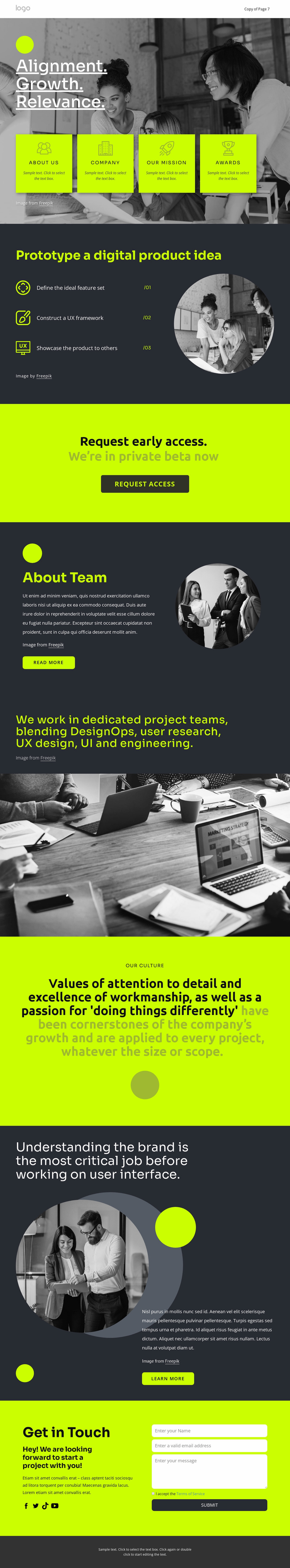 Build great digital products Website Template