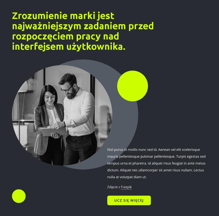 Projekt interfejsu użytkownika Szablon witryny sieci Web