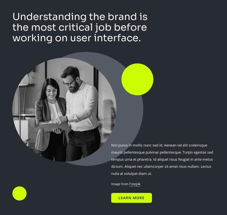 User interface design Website Template