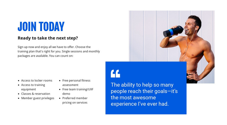 Personal training service HTML Template