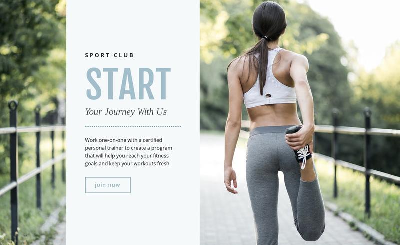 Running for beginners Website Maker