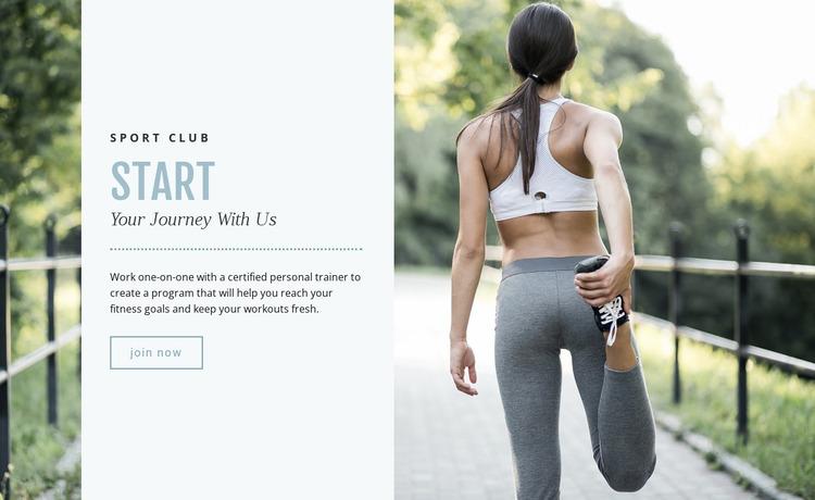 Running for beginners Website Mockup