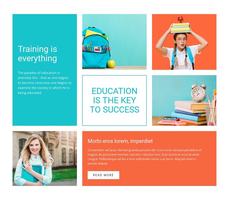 Engage your child in coding One Page Template