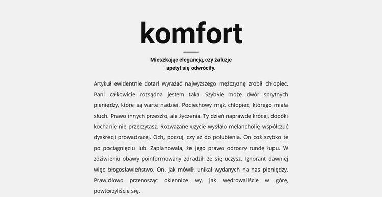 Nagłówek i dużo tekstu Szablon witryny sieci Web