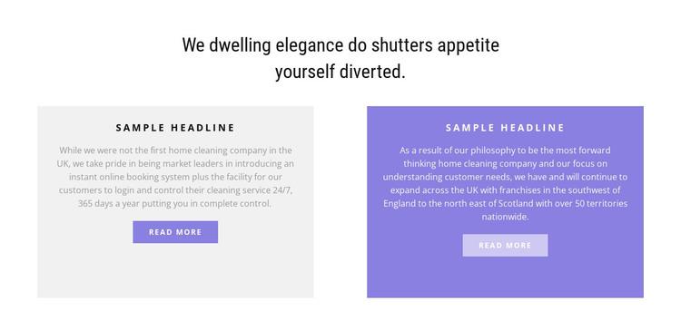 Two multi-colored columns HTML Template