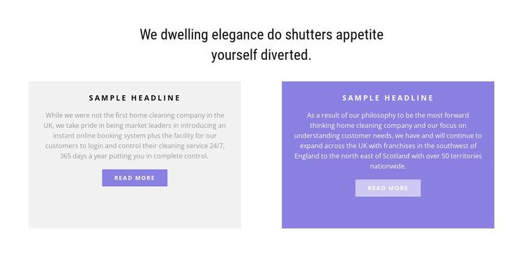 Two multi-colored columns HTML5 Template