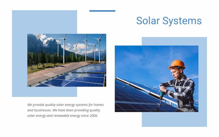 Quality solar energy WordPress Website Builder