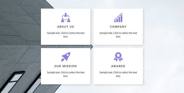 Four main directions HTML Template