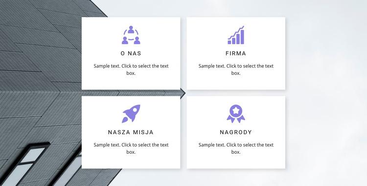 Cztery główne kierunki Szablon witryny sieci Web