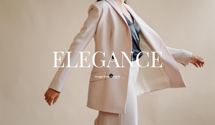 Elegance in everything Web Design