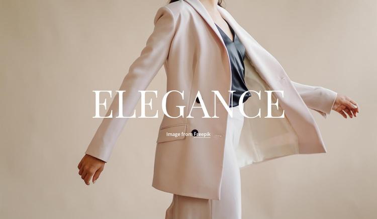 Elegance in everything Landing Page
