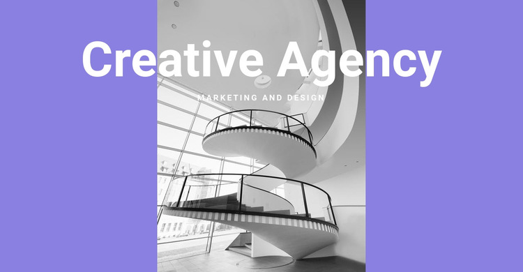 The creativity of our agency HTML5 Template