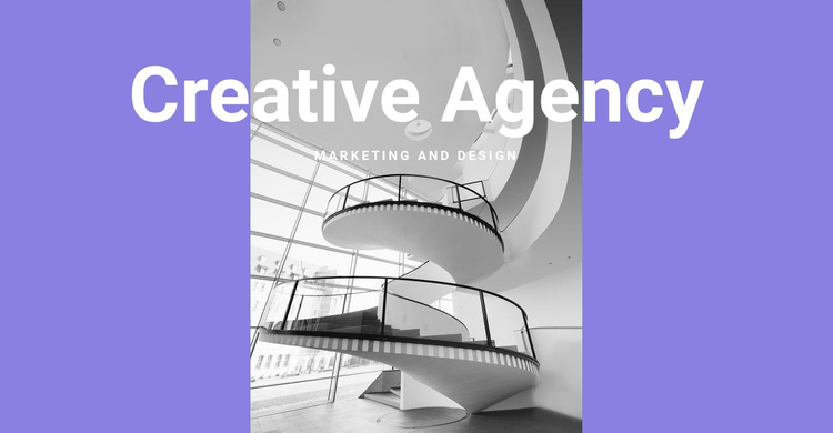 The creativity of our agency One Page Template