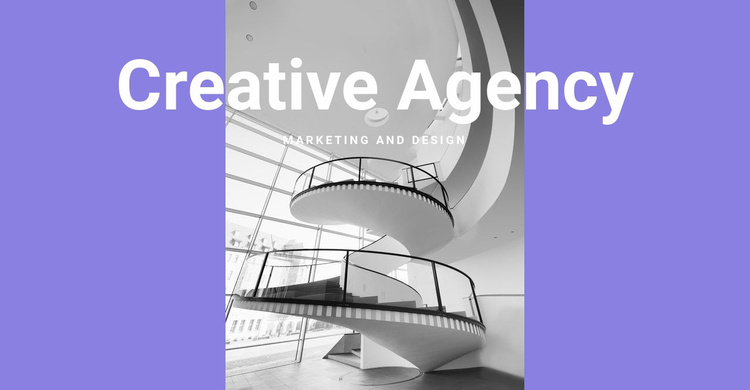 The creativity of our agency Website Template