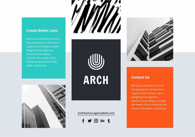 Architectural design and research WordPress Website Builder