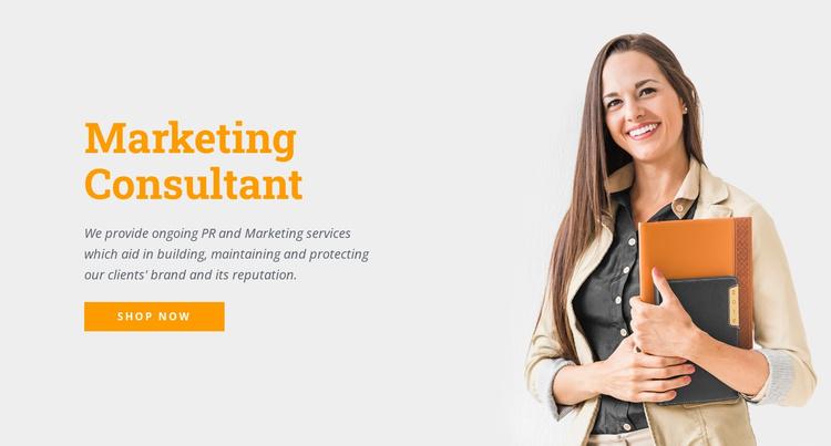 Marketing consultant Website Template