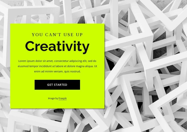 Creativity HTML Template