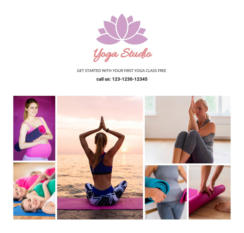 The asana practice Web Page Design