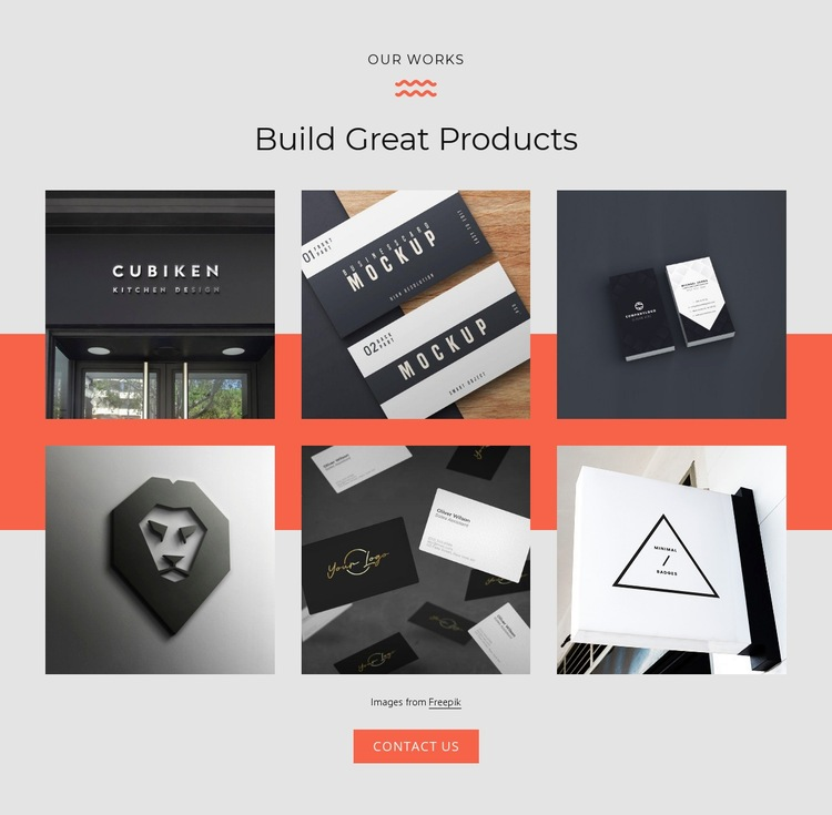 Build great products Html Code Example
